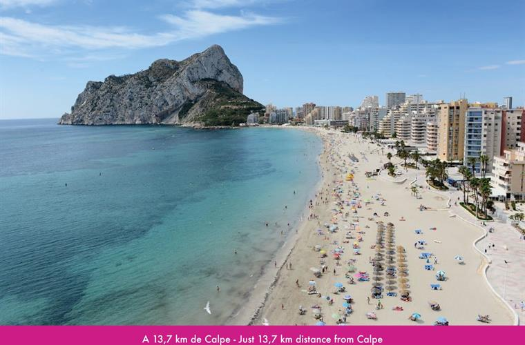 13,7km distance from Calpe