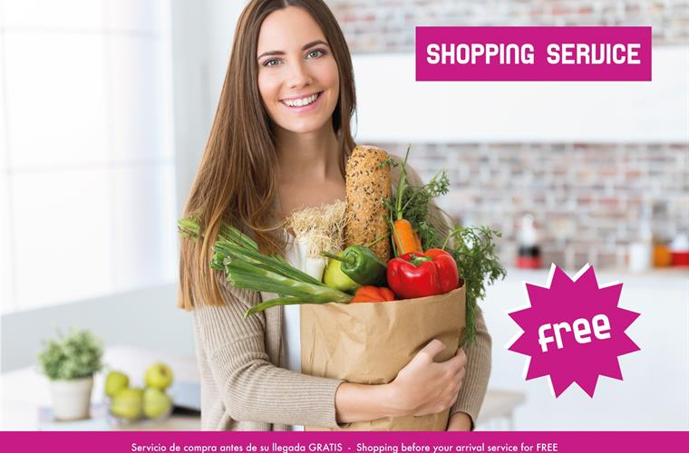 Shopping service before your arrival for free