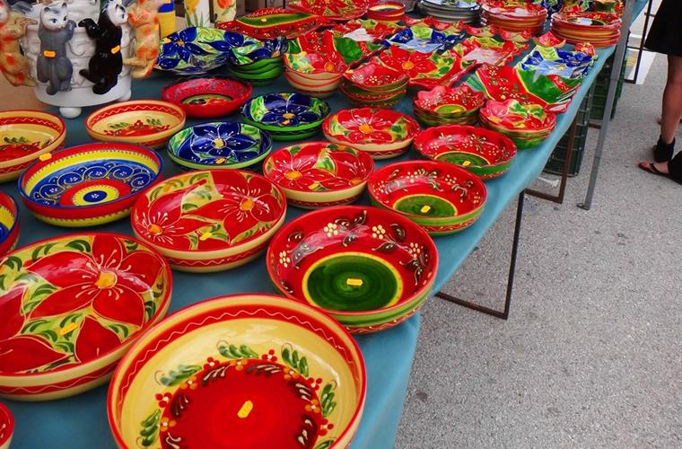 A stall at La Cala Market every Wednesday & Saturday year round