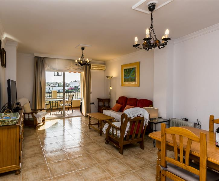 Living and terrace ofapartment CARABEO 2000 2.1
