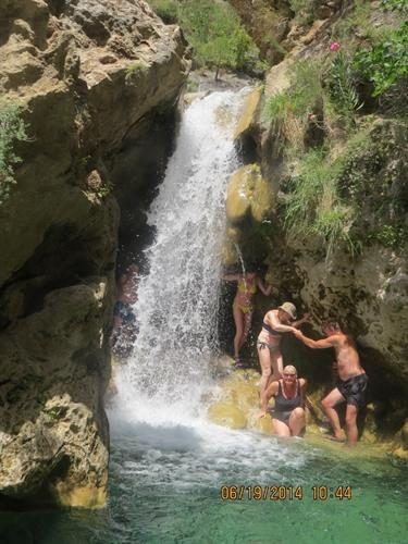 Waterfall excursion available