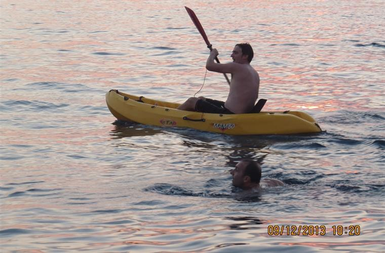 Kayaking in the mediteranean - excursion avalable