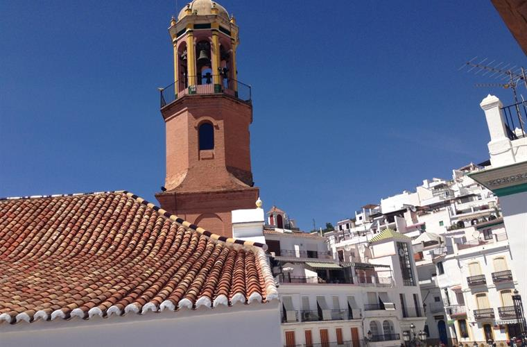 Beautiful white washed town of Competa, historical and traditional