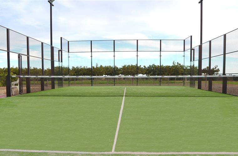 The owners have recently build a new tennis court