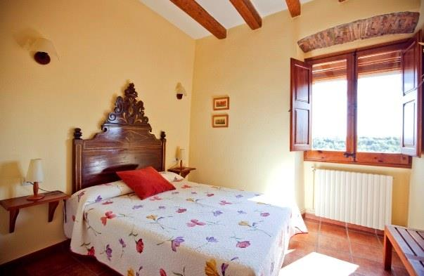One of eight bedrooms in casa Pau