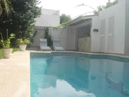 private pool and BBQ area