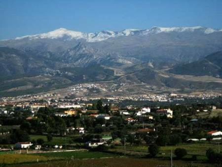 Views to the Sierra Nevada. Snow capped in the winter months