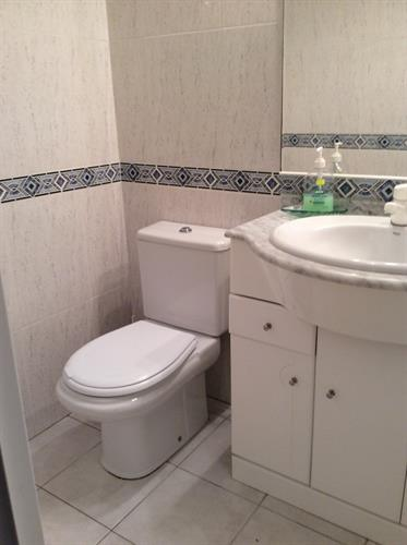 Downstairs Shower Room with Basin.Shower Cubicle and WC