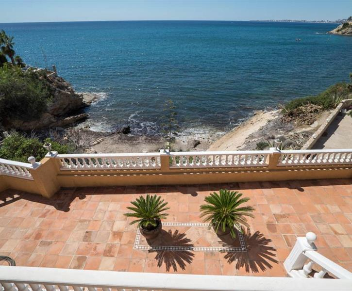 View from the villa to the sea, bay and to the terraces