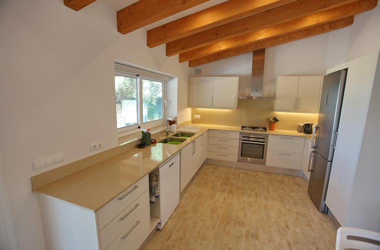 Large kitchen with all mod cons and lovely view over bay