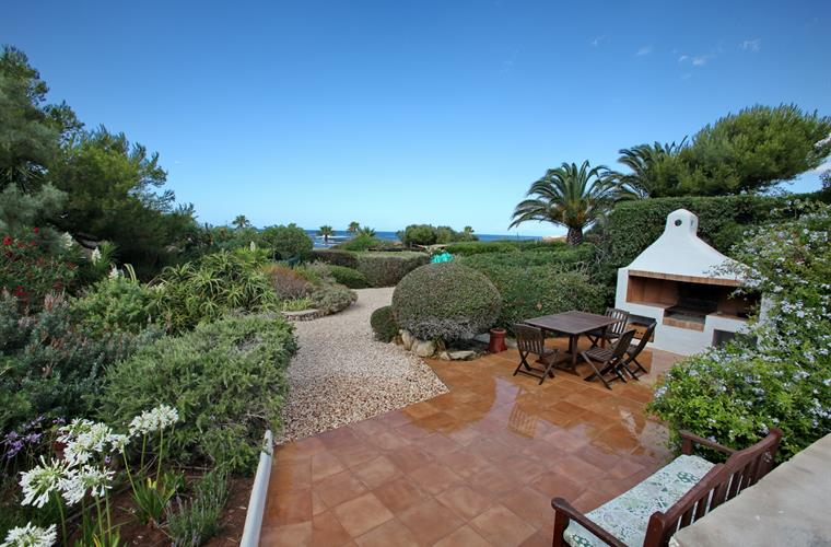 Mediterranean garden with sea views
