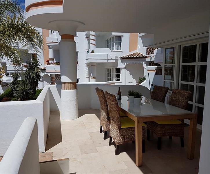Beautiful sunny terrace Perla Roja 1 with a great view!