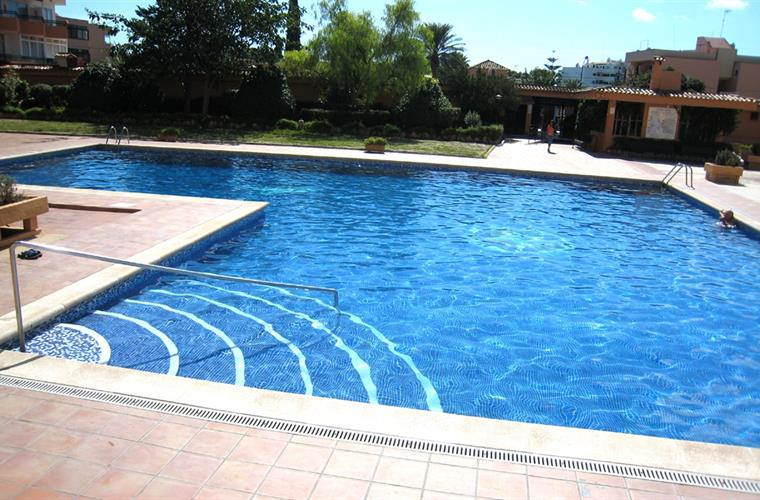 Large pool at the complex of the chalet