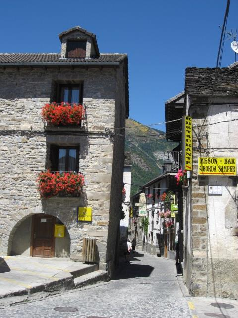 Torla village, main street.