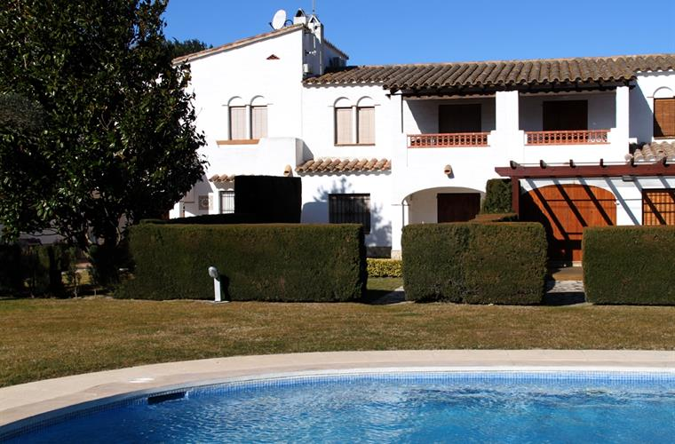 Pool, garden and our private garden and terrace