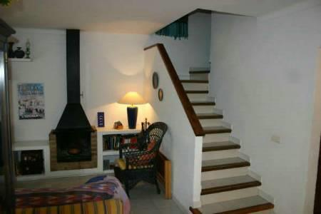 Living room and stairs