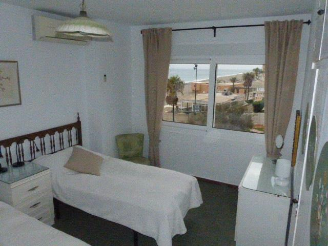 Bedroom 1 with view to sea (Nov 2017)