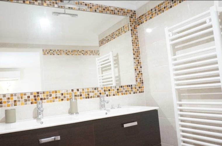 bathroom in the master bedroom
