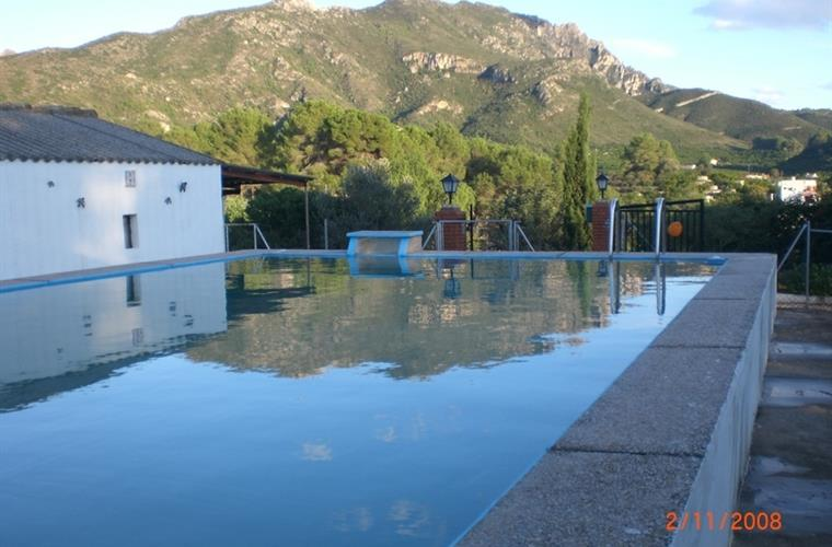 The Pool with the Mountains behind