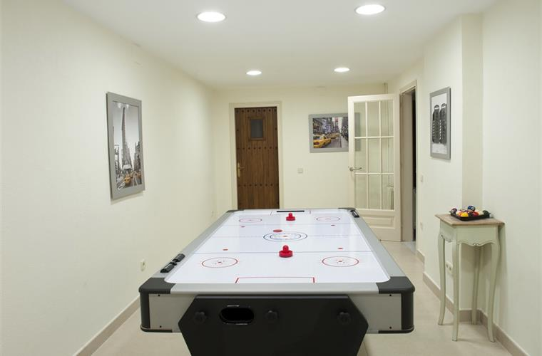games room.  Air hockey