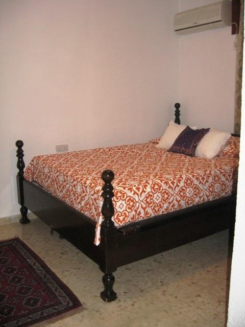 Double bed with air conditioning and heat, plus bilt in wardrobe
