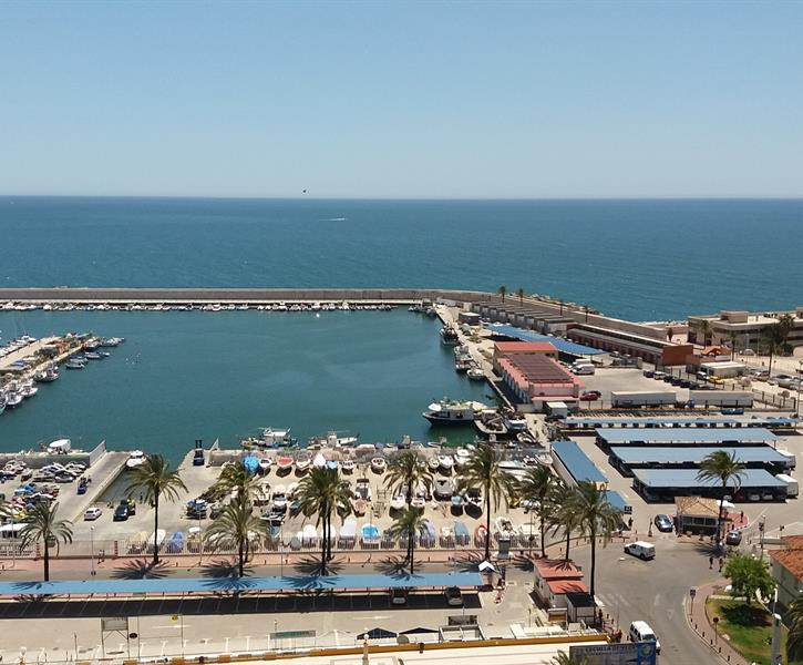 The view from the apartment over the port of Fuengirola.