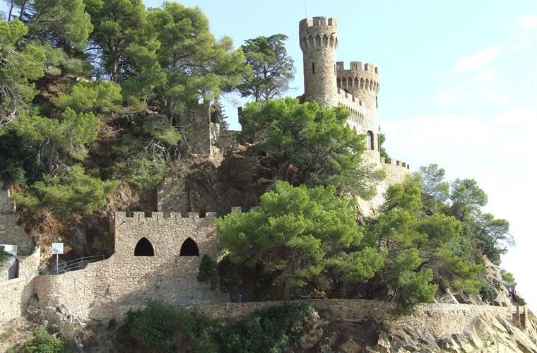 The castle in LLoret de Mar