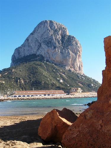 Many interesting rock-formations along the Costa Blanca cost-line