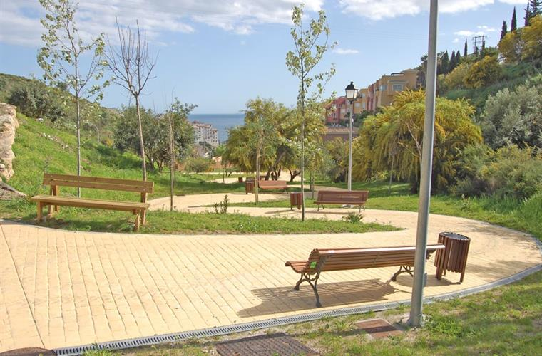 The new park just 100 metres from Casa Verano