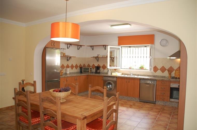 Fully fitted kitchen with spacious dining room.