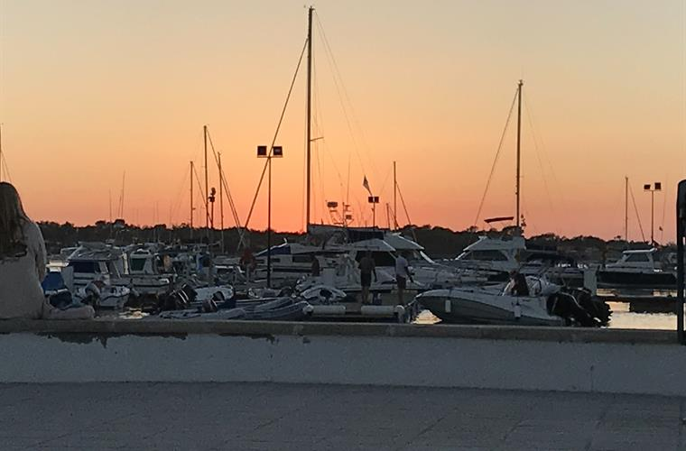 Sunset at the old fishing port and marina,  Sancti Petri !
