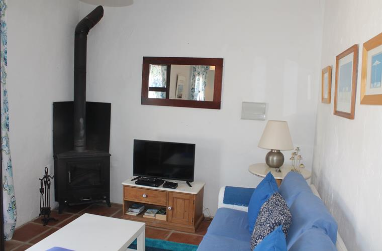 CASITA SITTING ROOM AND TV AREA AND LOG BURNER