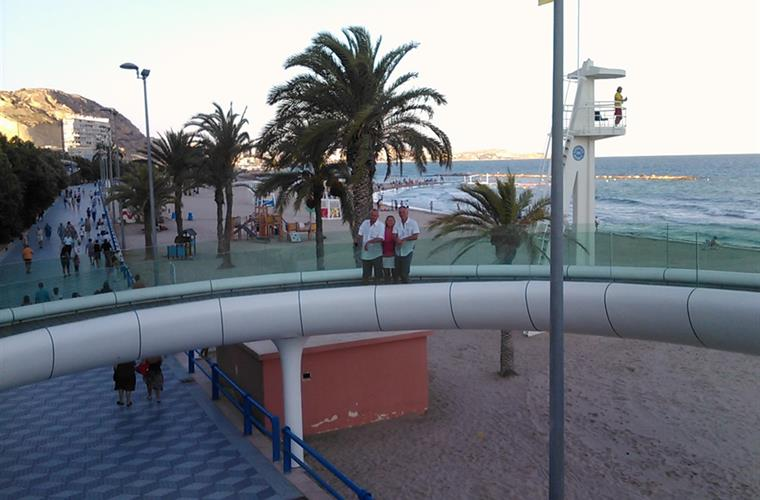 walking bridge in Alicante beach