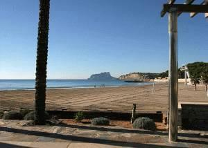 Sandbeach Ampolla at Moraira, View to Calpe