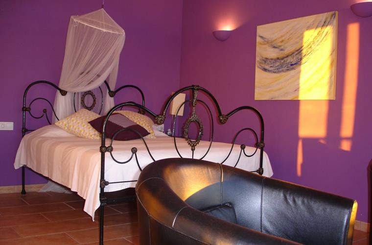 The purple room with private bathroom and ocean view