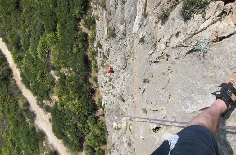 Climbing at Sella ,10 minutes from Finca Los Almendros