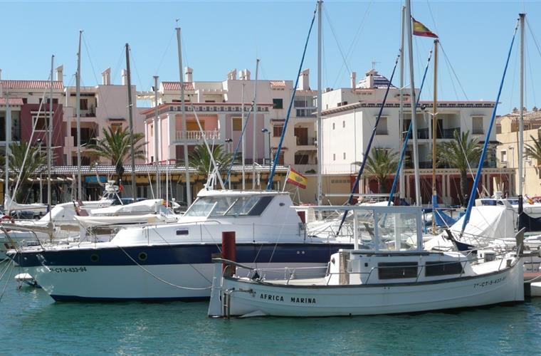 A nearby marina in torrevieja