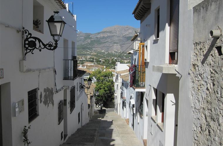 Typical street in Altea's Old Twon