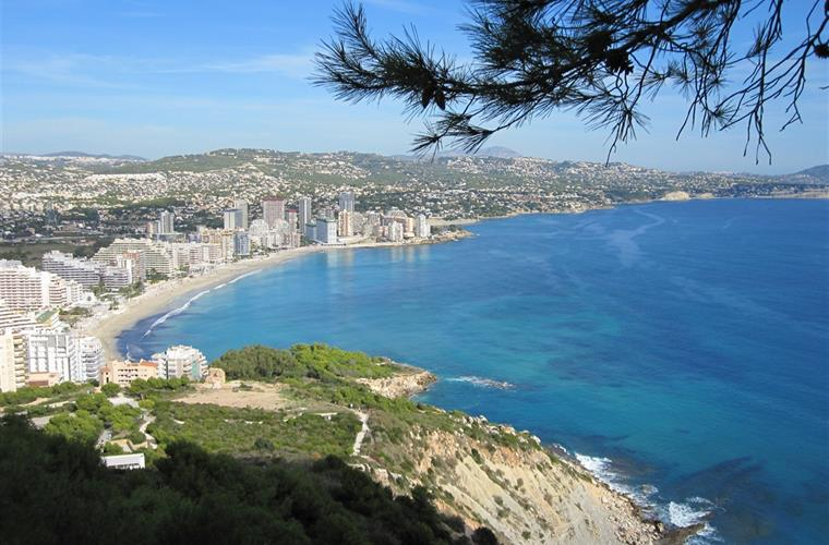 View towards Calpe beach from Penon Ifach
