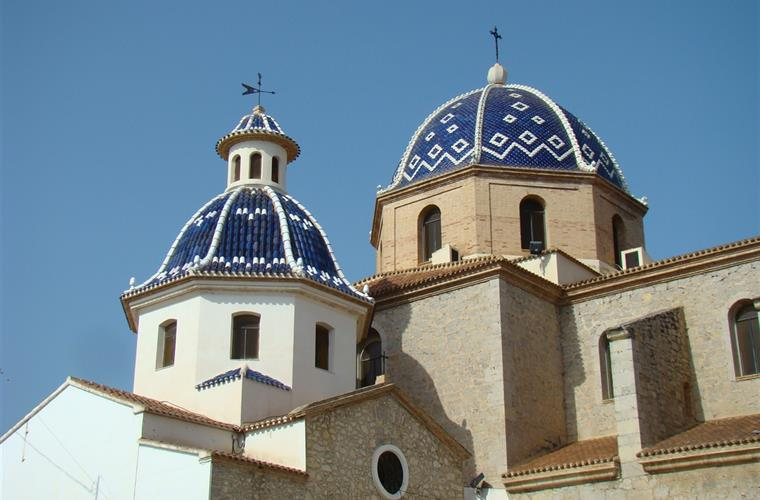 The famous blue domed church in the heart of Altea's Old Town