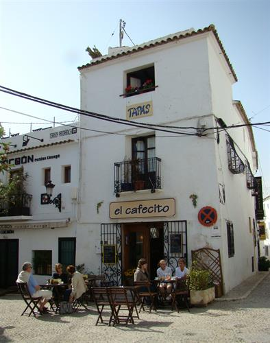 Tapas restaurant in the square in Altea's Old Town
