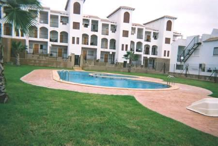 Communal Pools and Garden - rear of apartment