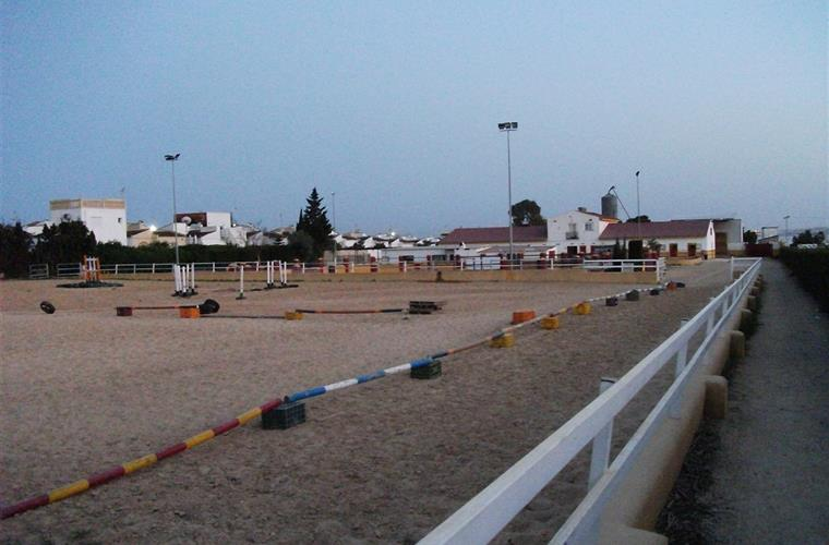 Villa Salida Spanish horse show jump during summer