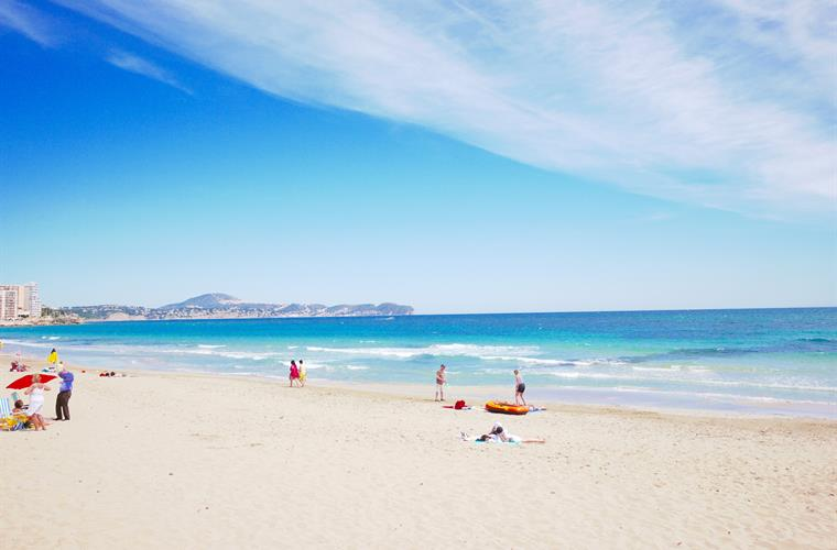 Nearby sandy beach in Calpe 15 mins drive