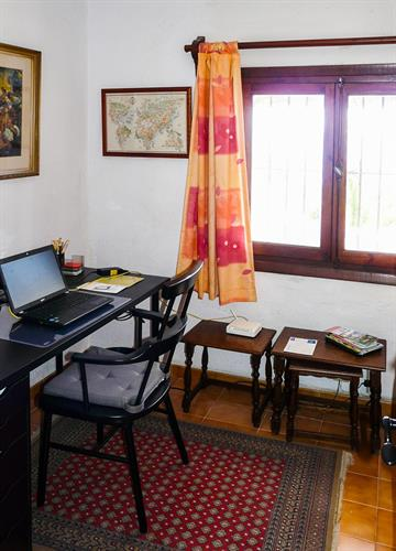 A small office room