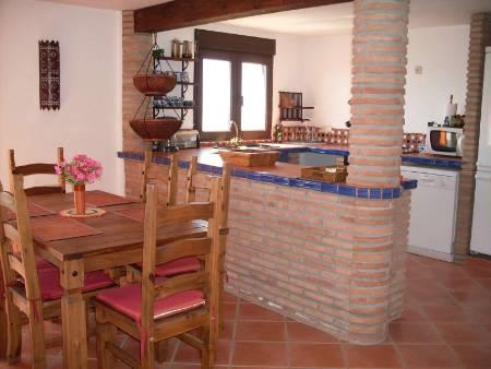 Kitchen area on the low terrace