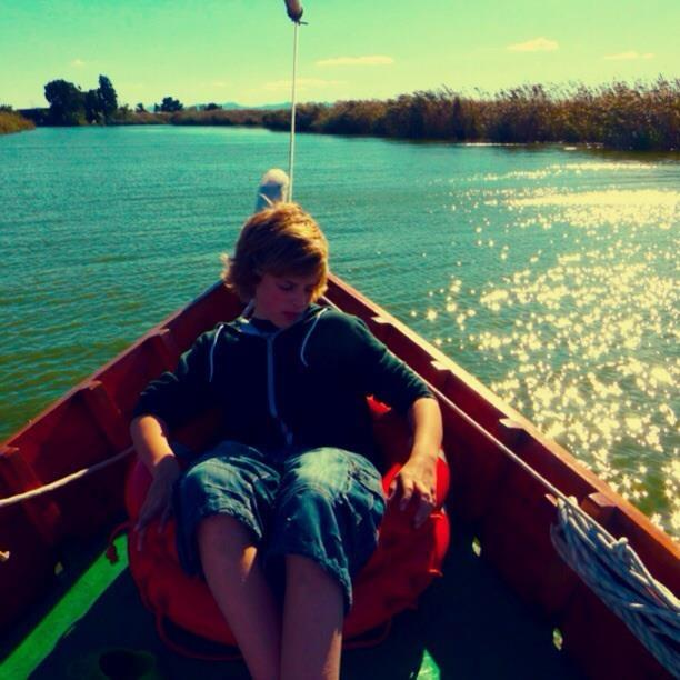 Lazy boat rides on the Albufera Parc de National.