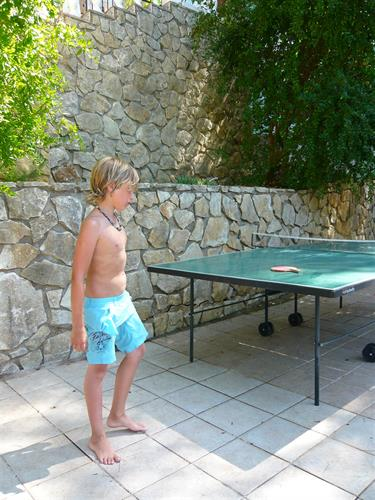 Poolside table tennis for holiday tournaments.