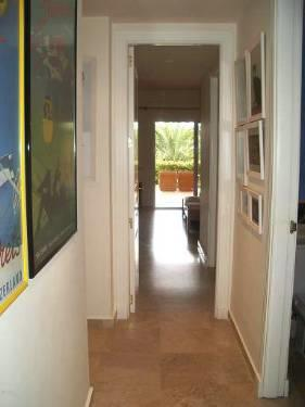 hallway leading to master bedroom, dressing, bathroom, terrace