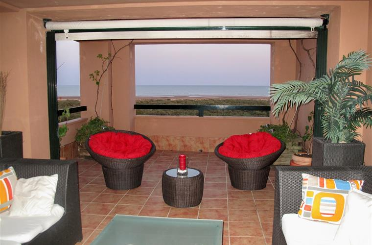 Our enclosed terrace area